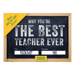 Why You're The Best Teacher Ever - Fill In The Love Journal