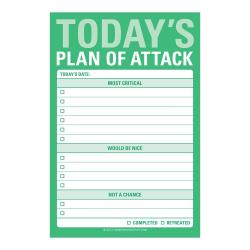 Today's Plan of Attack - Notepad