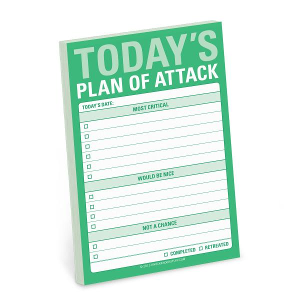Today's Plan of Attack