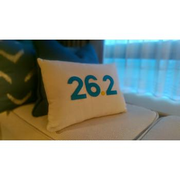 THIRTY - 26.2 Commemorative Marathon Pillow