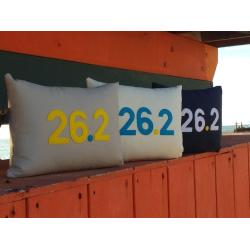 THIRTY - 26.2 Commemorative Marathon Pillow