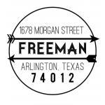 Custom Address Stamps CSA10023S