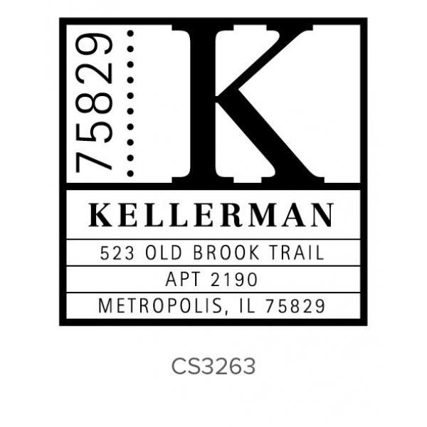 Custom Address Stamps CS3263