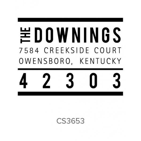 Custom Address Stamps CS3653