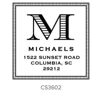 Custom Address Stamps CS3602