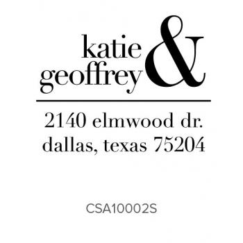 Custom Address Stamps CSA10002S