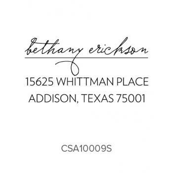Custom Address Stamps CSA10009S