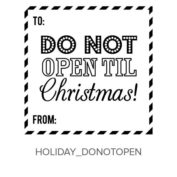Holiday_DoNotOpen Stamp