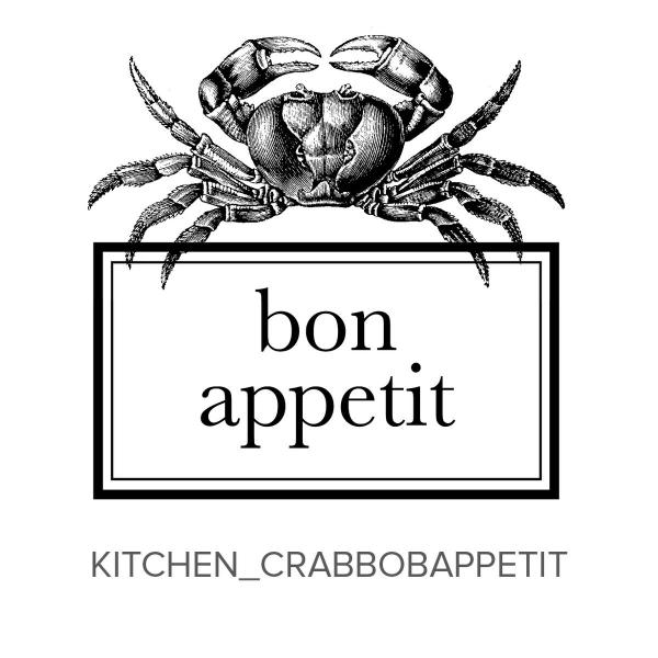 Kitchen_Crab Bon Appetit Stamp