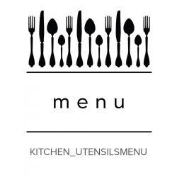 Kitchen_Utensils Menu Stamp