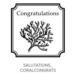 Salutations_CoralCongrats Stamp