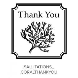 Salutations_CoralThankyou Stamp