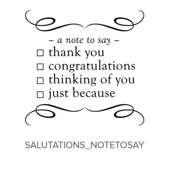 Salutations_NoteToSay Stamp