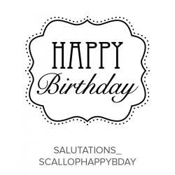 Salutations_ScallopHappyBirthday Stamp