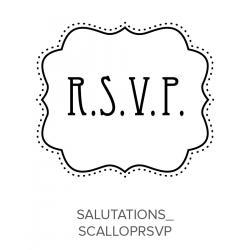 Salutations_ScallopRSVP Stamp