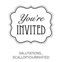 Salutations_ScallopYoureInvited Stamp
