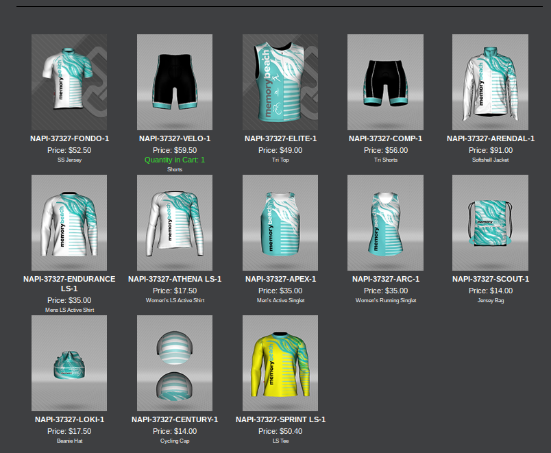 Images of running and cycling clothing
